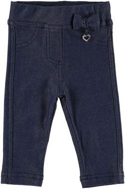 Pantalone lungo effetto denim con cuore pendente  NAVY-3854