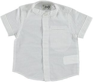 Camicia a manica corta modello con collo alla coreana ido BEIGE - 0436