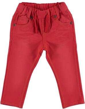 Pantalone in felpa effetto vissuto ido ROSSO-2251