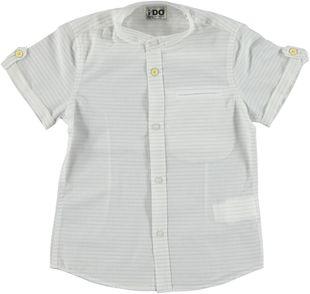 Camicia manica corta colletto alla coreana ido