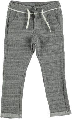 Pantalone con cavallo calato in felpa leggera misto cotone ido ECRU MELANGE - 8989
