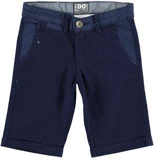 Pantalone corto slim in canvas di cotone leggermente elasticizzato  NAVY - 3854
