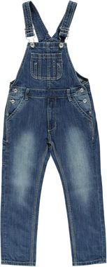 Salopette in jeans 100% cotone con sabbiature  STONE WASHED - 7450