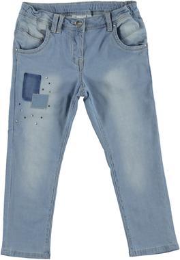 Pantalone in cotone effetto denim modello baggy fit ido BLU CHIARO LAVATO-7310