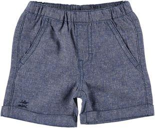 Pantaloncino corto misto lino  NAVY - 3854