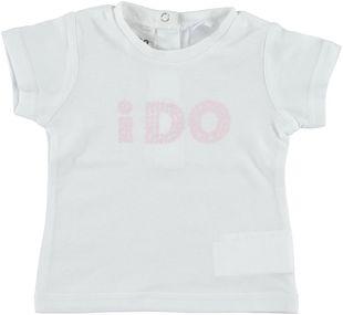 T-shirt mezza manica 100% cotone con logo  BIANCO-0113