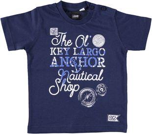 T-shirt 100% cotone con serigrafia dedicata al mare ido NAVY - 3854