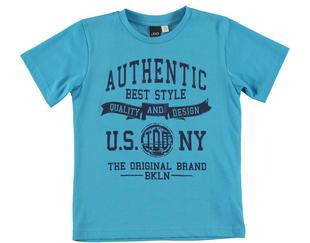 T-shirt a mezza manica 100% cotone  TURCHESE-4024