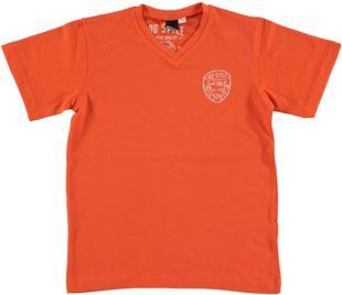 Colorata t-shirt in cotone elasticizzato  ARANCIO-2211