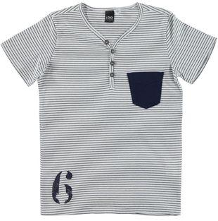 T-shirt modello serafino 100% cotone ido BIANCO - 0113