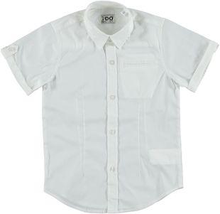 Camicia avvitata a manica corta in fresco popeline ido BIANCO - 0113