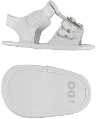 Sandalo in ecopelle con farfalline ido BIANCO - 0113