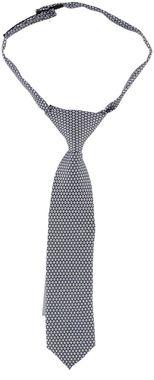 Cravatta in tessuto microstampa ido BIANCO-BLU - 8020