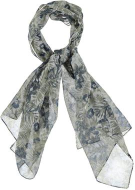 Pashmina in morbido tessuto stampato ido BIANCO-BEIGE-6F99