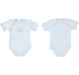 Coppia di body per neonato tessuto 100% cotone ido CIELO - 5811