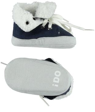 Scarpine neonato modello sneakers in ecopelle scamosciata ido NAVY - 3854