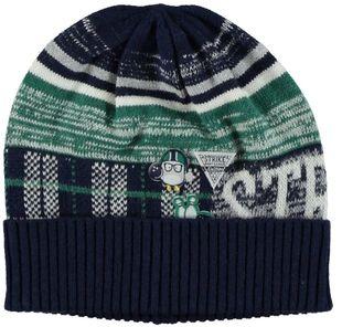 Berretto in tricot con fantasia rigata ido BLU-VERDE - 8039