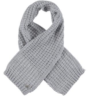 Sciarpa lavorazione maglia inglese ido GRIGIO MELANGE-8992
