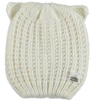 Cappellino con orecchie lavorazione a maglia inglese ido PANNA-0112