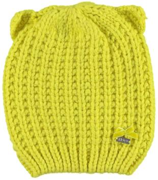 Cappellino con orecchie lavorazione a maglia inglese ido GIALLO-1432