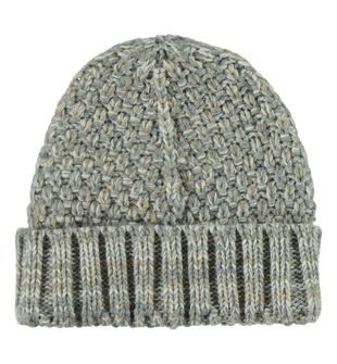 Cappellino misto lana grana di riso ido ECRU'-GRIGIO - 8178
