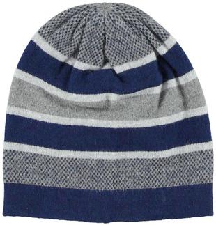 Cappellino modello cuffia a righe colorate ido NAVY-3854