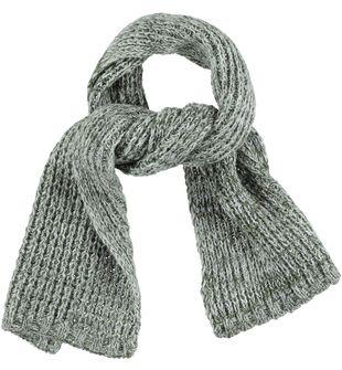 Sciarpa bambino in tricot misto lana con filato melange ido GRIGIO MELANGE-8970