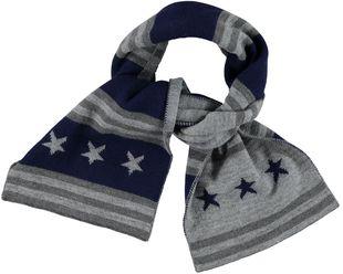 Sciarpa bambino in tricot misto lana fantasia stelle ido NAVY - 3854