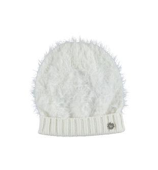 Cappellino bambina in tricot lurex effetto pelliccia ido PANNA - 0112