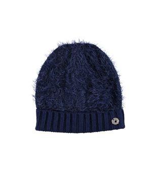 Cappellino bambina in tricot lurex effetto pelliccia ido NAVY - 3854