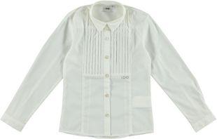 Elegante e classica camicia con pettorina plissettata ido PANNA-0112