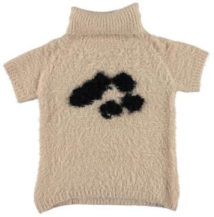 Mini abito in tricot effetto pelliccia ido BEIGE - 0924
