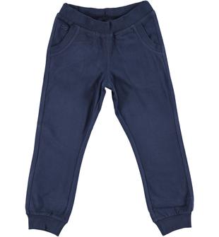 Comodo e pratico pantalone in jersey di cotone ido NAVY - 3854