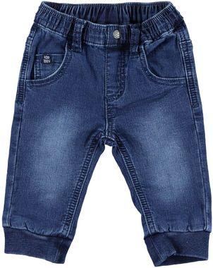 Pantalone neonato in felpa di cotone effetto denim  STONE WASHED - 7450
