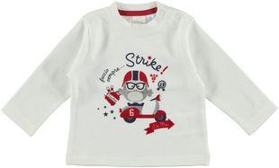 Maglietta 100% cotone con gufetto campione di bowling ido PANNA-0112