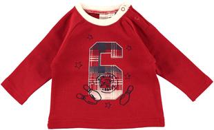 Maglietta neonato in interlock 100% cotone con stelline  ROSSO - 2259