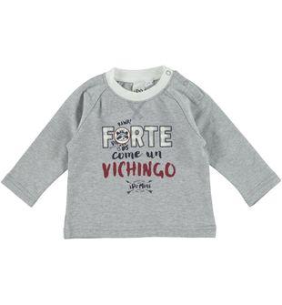 Simpatica maglietta in interlock di cotone ido GRIGIO MELANGE - 8992