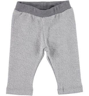 Pantalone in felpa rovesciata stampa glitter ido silver allover glitter print - 6X50