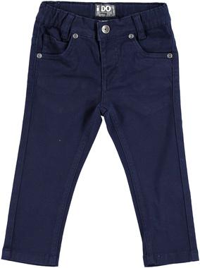 Pantalone strutturato con misura vita regolabile ido NAVY - 3854