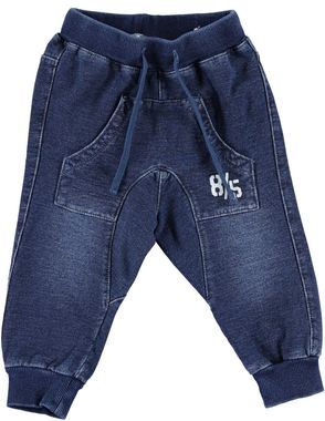 Pantalone bambino in felpa effetto denim ido STONE WASHED - 7450