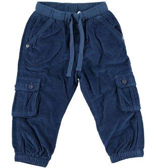Pantalone modello cargo in velluto ido NAVY - 3657