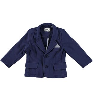 Giacca in felpa stretch  con collo rever ido NAVY - 3854