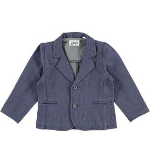Elegante giacca in felpa per bambino ido GRIGIO-BLU-6M95