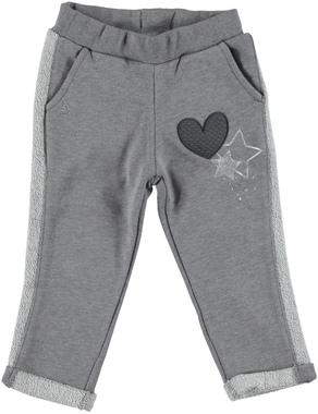 Pantalone bambina in felpa non garzata ideale per l'autunno ido GRIGIO MELANGE - 8967