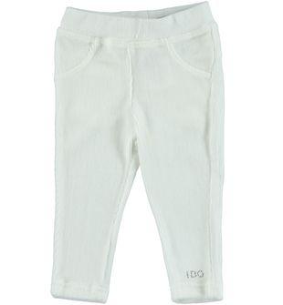 Caldi leggings in ciniglia  ido PANNA - 0112