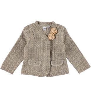 Preziosa giacchina corta in panno ido BEIGE - 0924