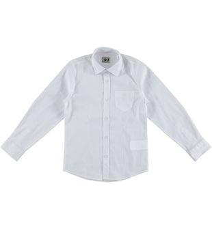Camicia bambino in cotone modello avvitato ido BIANCO - 0113