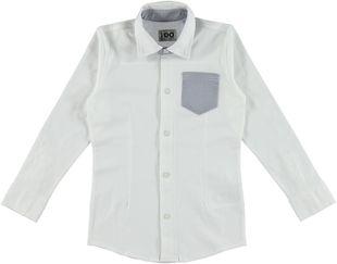 Camicia a manica lunga avvitata per bambino ido PANNA-0112