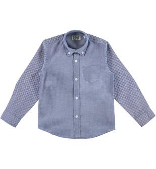Camicia bambino a manica lunga in oxford ido AZZURRO-BLU - 6N93