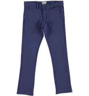 Pantalone bambino modello tinto capo in felpa stretch ido NAVY - 3854